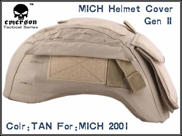 EMERSON Tan MICH 2001 Helmet Cover GEN2