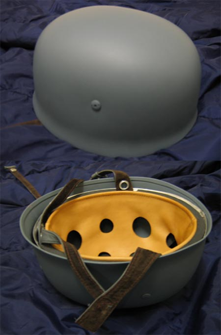 WW2 German M38 Airborne Paratrooper Helmet - Grey