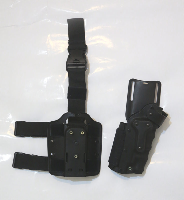 3085 style M9 M92F Holster w/ Leg Panel and Belt Loop - Black