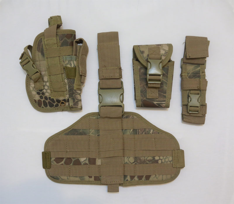 Drop Leg Holster w/ Pouch Panel set - Python Snake Camo - HLD Highland
