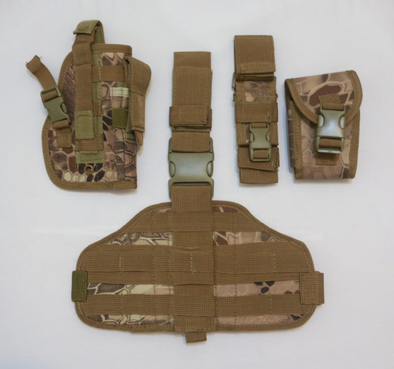 Drop Leg Holster w/ Pouch Panel set - Python Snake Camo - MAD