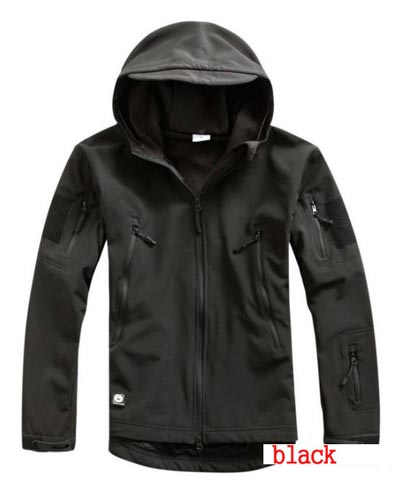 Softshell V4.2 Shark Skin Hood Jacket - Black