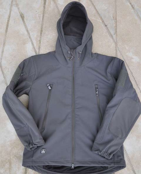 Softshell V4.2 Shark Skin Hood Jacket - Grey