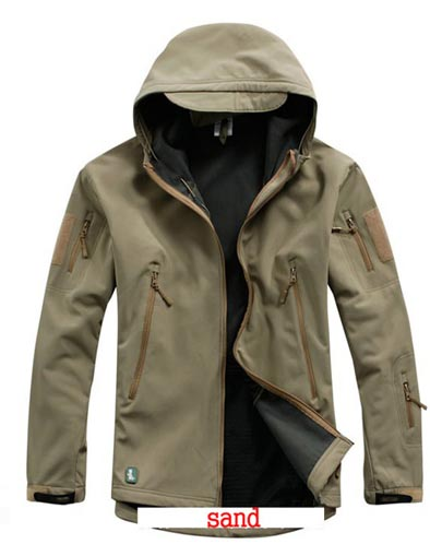 Softshell V4.2 Shark Skin Hood Jacket - Sand