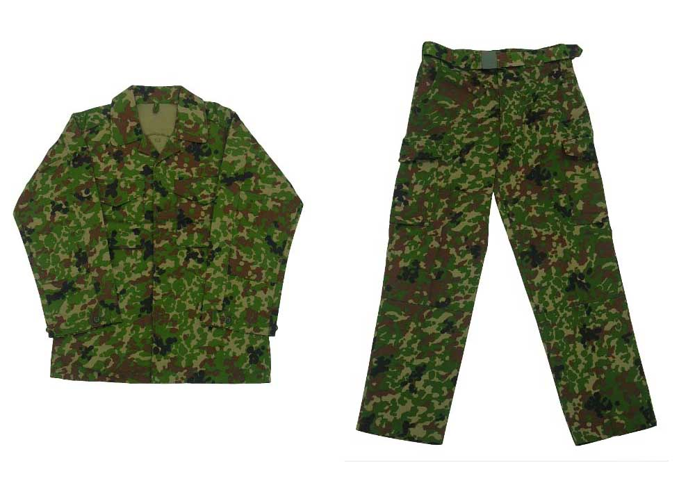 Japan Ground Self-Defense Force JGSDF Army SPECKLED Woodland Camo Shirt Pants Set