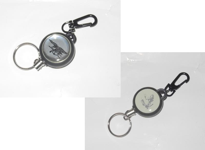 Spring Key Chain - US Navy Seal - Silver
