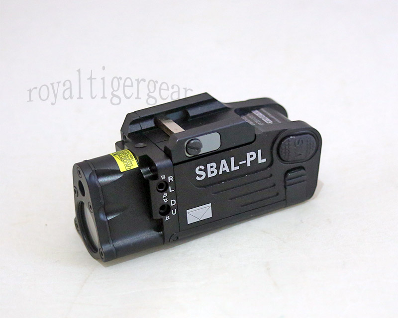 Metal SBAL-PL Weapon Light / Strobe / / Red Laser - Black