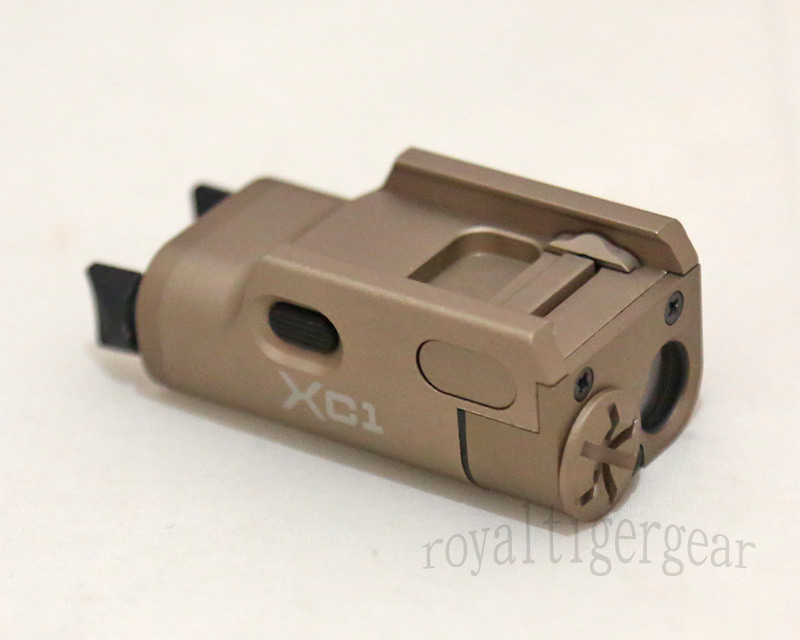XC1 style Ultra-Compact LED Handgun Light Pistol Weaponlight for Rail – XC1-A - Dark Earth