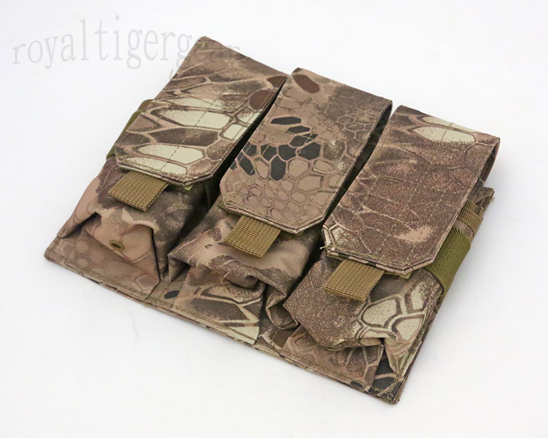 Triple M4 Ammo Mag MOLLE Pouch - Python Snake Camo MAD Desert