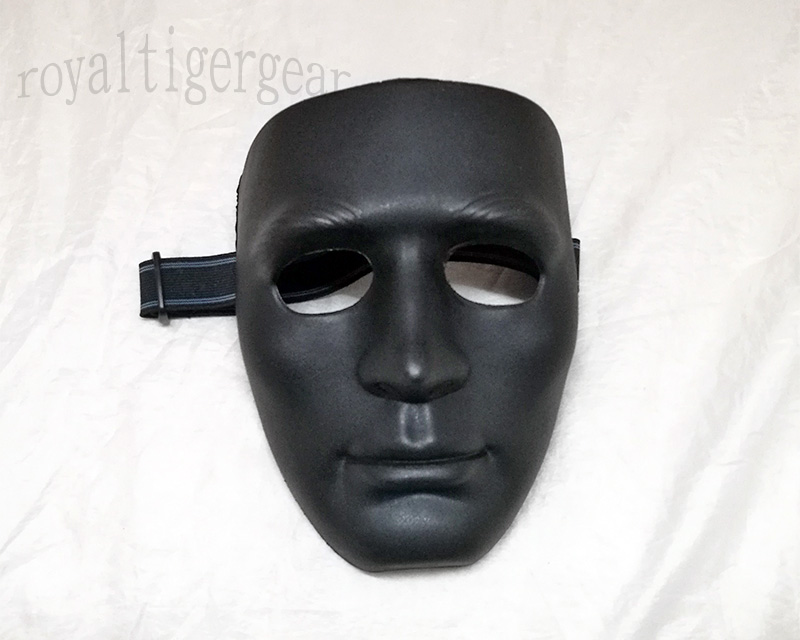 KOEI Tactical Face Hard Plastic Polymer Mask - Black
