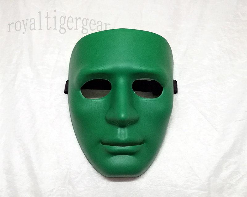KOEI Tactical Face Hard Plastic Polymer Mask - Green