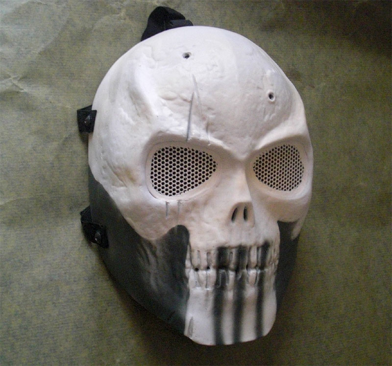 Full Face Mask - Punisher White Skull