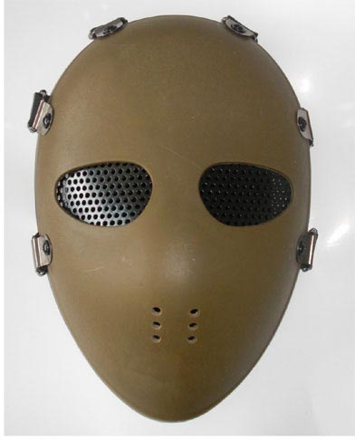 Hockey Hard Plastic Polymer Mask – Dark Earth