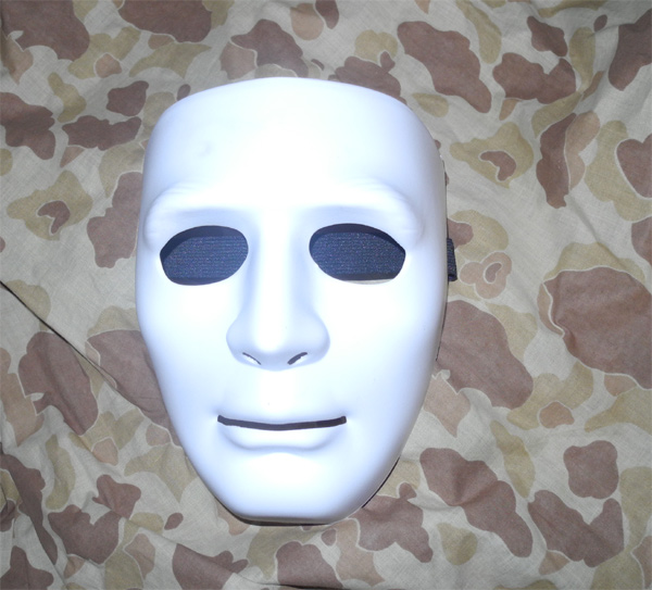 KOEI Tactical Face Hard Plastic Polymer Mask - White