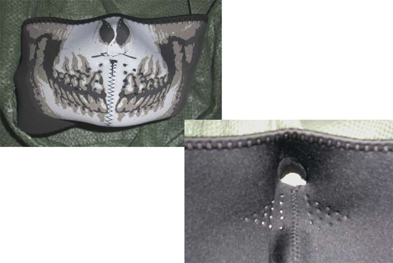 Skull Half Head Cover Wrap