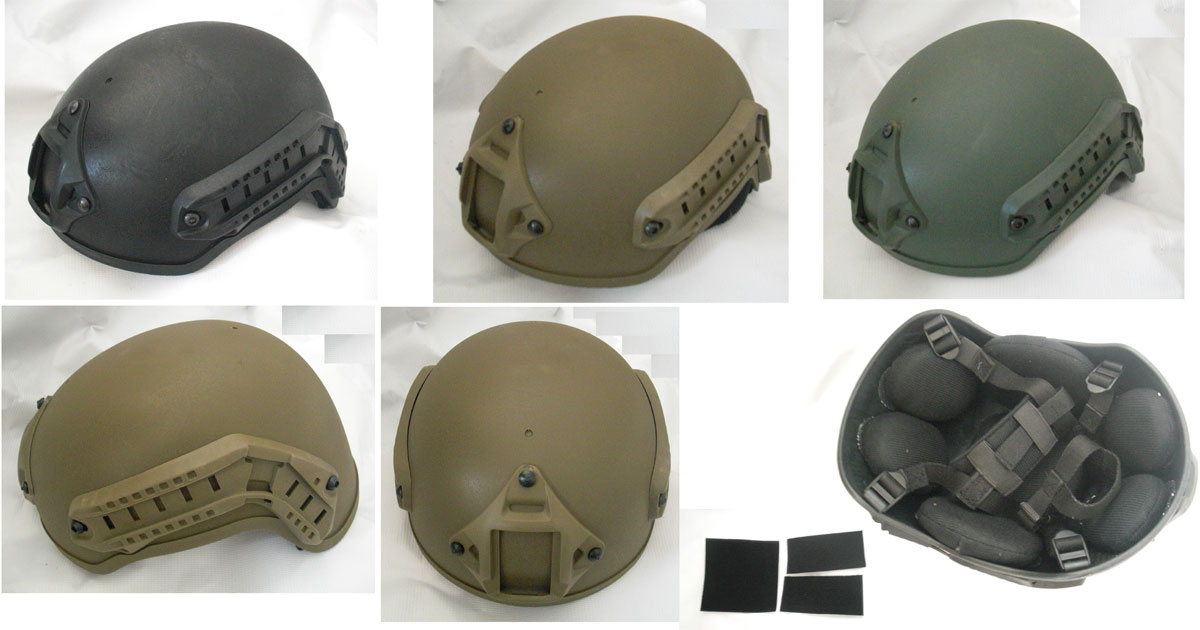 MICH 2001 Lightweight Helmet w/ NVG Mount / Side Rail