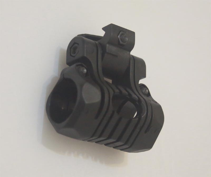 Adjustable Flashlight / Laser Mount - 5 Position - Black