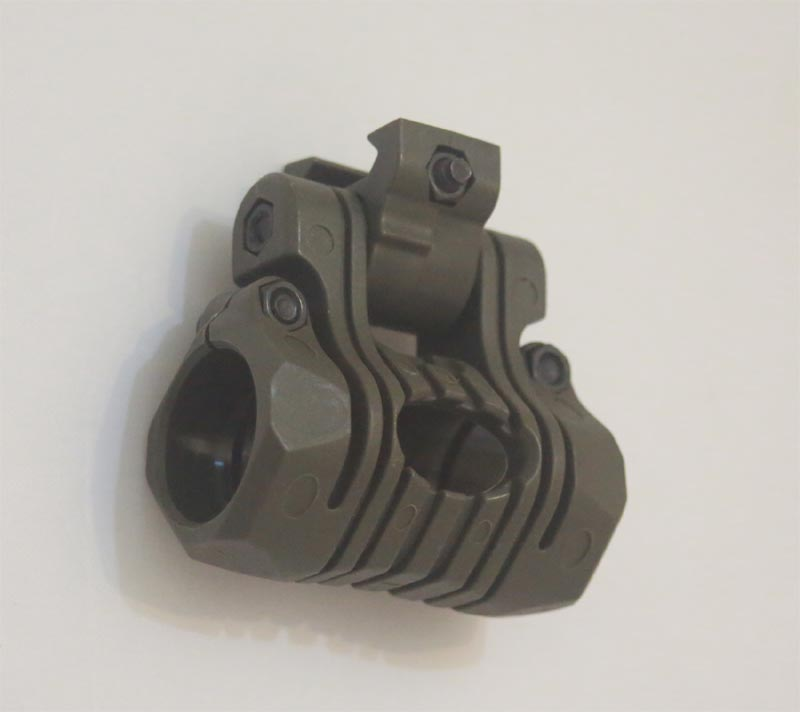 Adjustable Flashlight / Laser Mount - 5 Position - OD