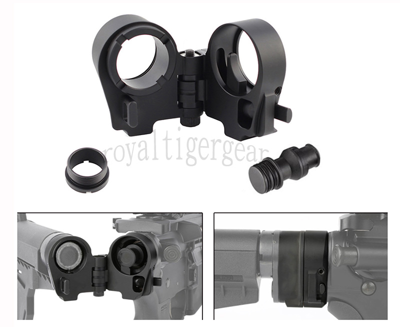 Carbine Rifle M4 M16 AR15 Tactical Fold Stock Adapter GEN3