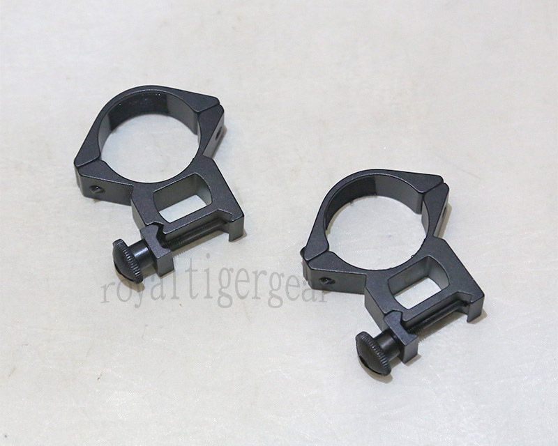 Rifle Scope Mount Rings for Picatinny Rail - Diameter 30mm Height 52mm
