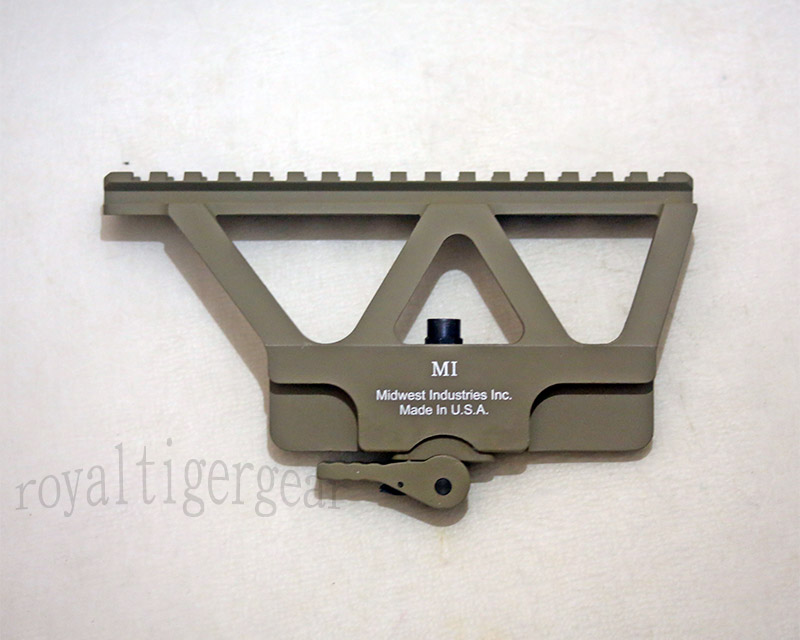 MI Midwest style AK series 20mm Rail Mount GEN2 - CNC Aluminum - Dark Earth