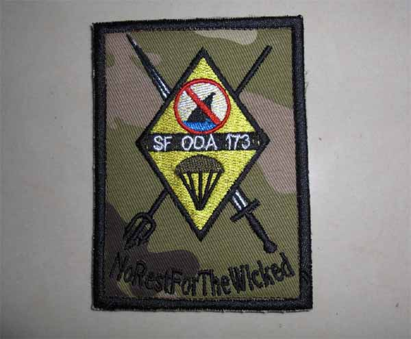 US Special Force ODA 173 Patch – No Rest For The Wicked