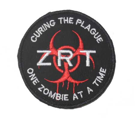 Biohazard - ZRT - Zombie Rescue Team - One Zombie At A Time Round Patch