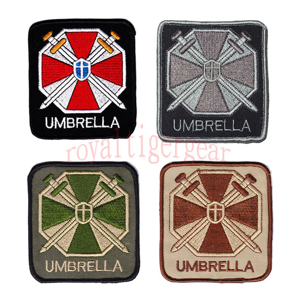 Biohazard Umbrella Corporation Logo Patch - Square / Name