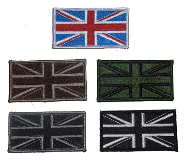 British Flag Patch - Large - ver. Full Embroidery