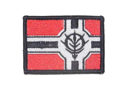 Mobile Suit Gundam Zeon Military Flag Patch