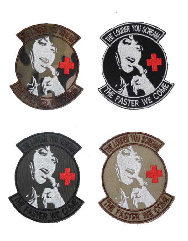 "Medic ""The Louder You Scream The Faster We Come"" Patch"