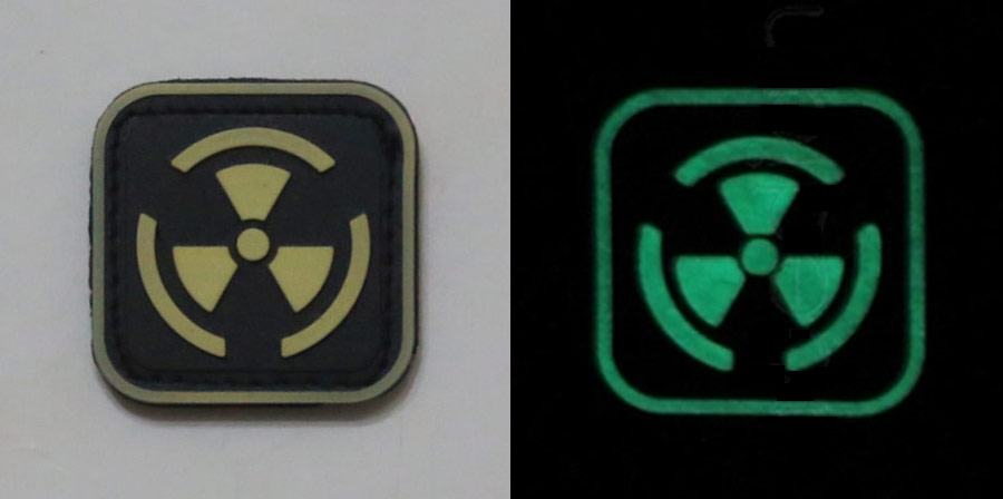 Biohazard Radioactive PVC Patch - Grow in Dark- Small