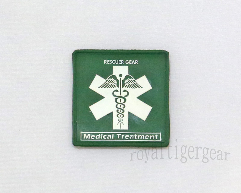 Rescuer Gear – Medical Treatment - PVC Patch - Green