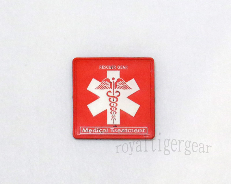 Rescuer Gear – Medical Treatment - PVC Patch - Red