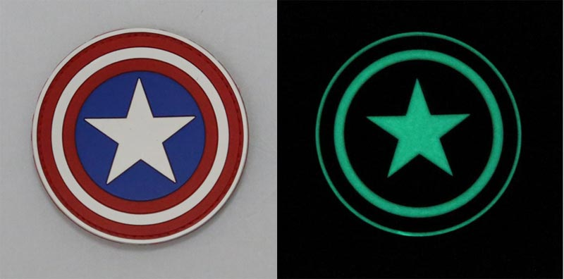 Avengers S.H.I.E.L.D Shield Captain America PVC Patch - Grow in Dark