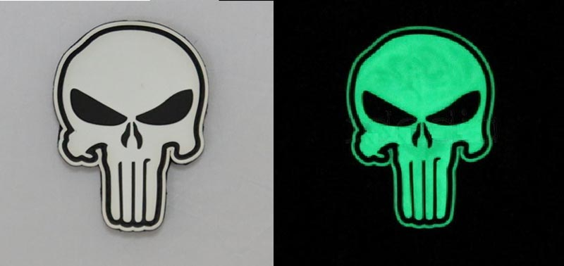US Navy Seal Team DEVGRU Skull PVC Patch - Grow in Dark