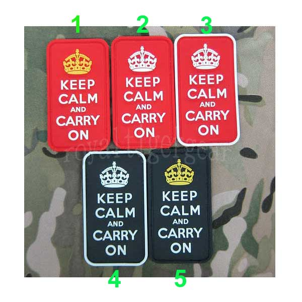 British Keep Calm and Carry On PVC Patch