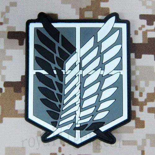 Attack on Titan - Investigation Corps PVC Patch - Black