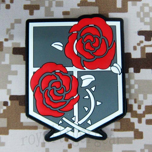 Attack on Titan - Stationed Corps PVC Patch - Red