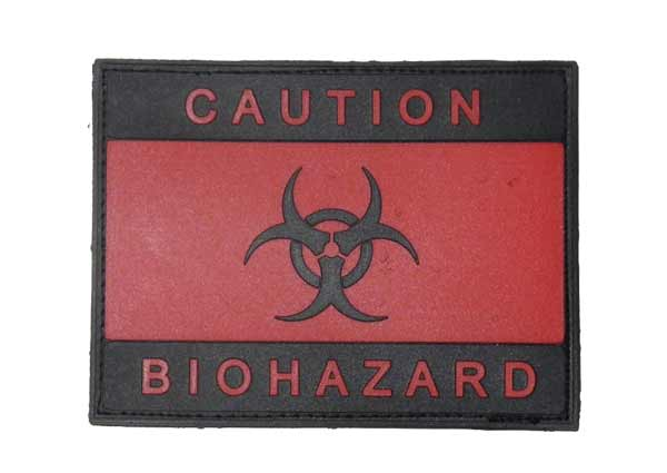 Biohazard Caution PVC Patch – Red