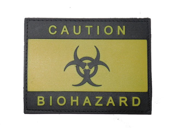 Biohazard Caution PVC Patch – Yellow