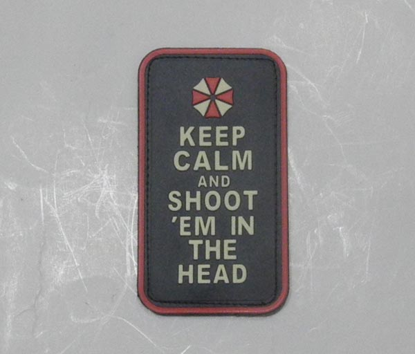 Biohazard - Keep Calm and Shoot 'em in the Head PVC Patch