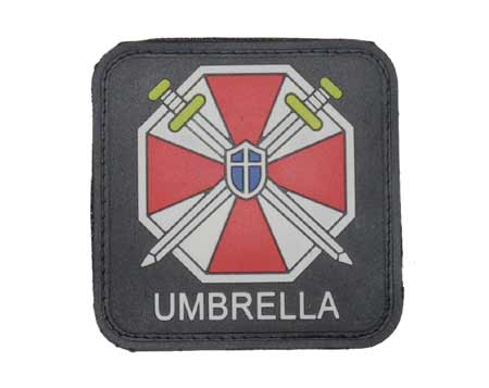 Biohazard Umbrella Corporation PVC Patch – Square / Name
