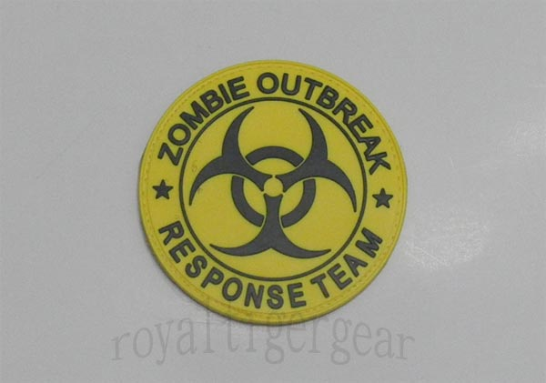 Biohazard ZORT Zombie Outbreak Response Team PVC Patch - Yellow
