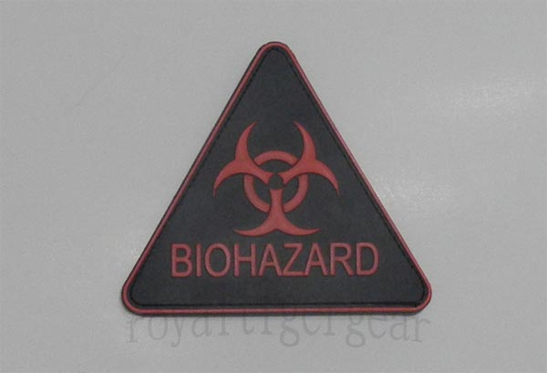 Biohazard PVC Patch - Triangle
