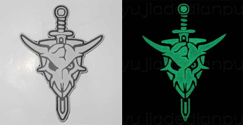 Macross Skull Squadron PVC Patch – Grow in Dark