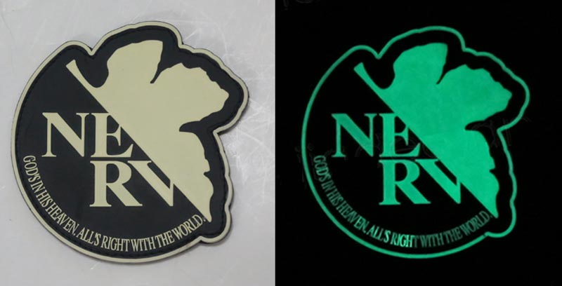 Neon Genesis Evangelion NGE EVA - NERV PVC Patch - Grow in Dark