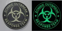 Biohazard - Zombie Outbreak Response Team PVC Patch - Round - Grow in Dark