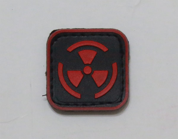 Biohazard Radioactive Red PVC Patch - Small