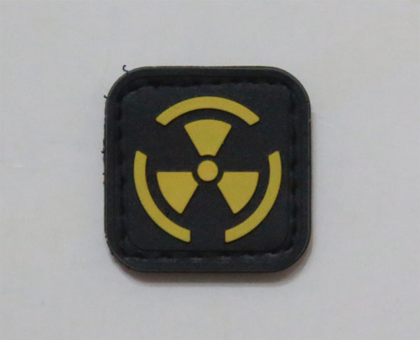 Biohazard Radioactive Yellow PVC Patch - Small